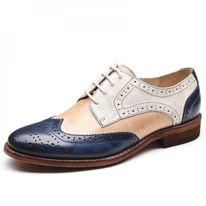 Wingtip Leather Flat Oxford Shoes Brogues
